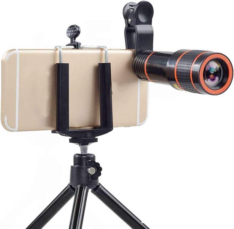 Universal 12X teleobjetivo lente del tel/éfono m/óvil enfoque zoom telescopio cabeza c/ámara HD externa 12 veces lente