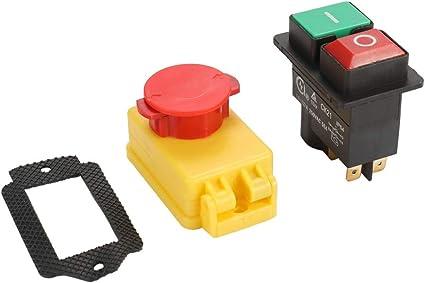 Roeam Sicherheitsschalter Elektromagnetischer Schalter 250v Universal Ck21d 250v Sicherheitsschalter Not Aus Saftey Cut Off Killer Für Schleifmaschine Universal Küche Haushalt