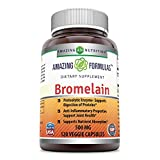 Amazing Formulas Bromelain – 500 Mg, 120 Veggie Capsules – Proteolytic Enzymes – Supports Dijestion of Proteins – Anti-Inflammatory Properties – Supports Nutrient Absorption. For Sale