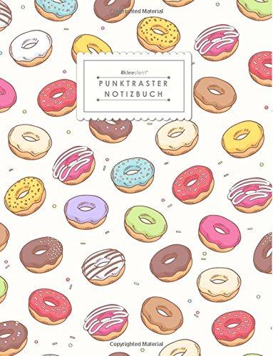 KLEESTERN® Punktraster Notizbuch (DIN A4, 80+ Seiten, Vintage Flair Softcover, Donut Lover - Dot Grid Notebook, Bullet Journal, Skizzenbuch, Dickes Papier, Dotted Paper Notizblock)