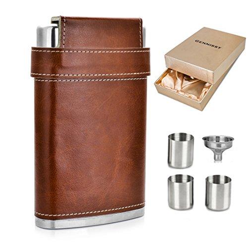 GENNISSY Pocket Flask Free Funnel