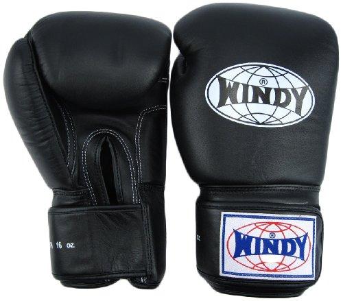 - Windy Thai Style Training Gloves-14oz.-All Black