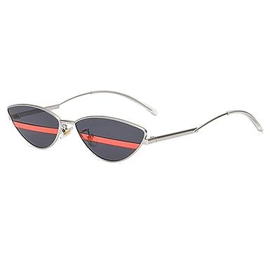 7712df3f732b Ladies Small Cat Eye Sunglasses Women Female UV400 Stripe Eyewear  Accessories B09