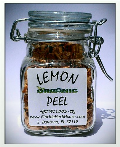 Lemon Peel 1.0 oz. (28g) - Organic Eco Friendly Gifts! - Eco-Spices!