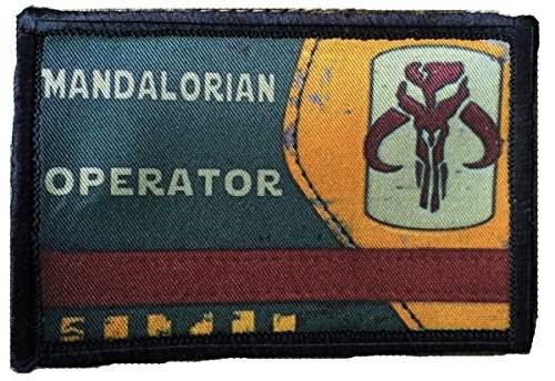 Boba Fett Mandalorian Operator Morale Patch. Perfect for your Tactical Military Army Gear, Backpack, Operator Baseball Cap, Plate Carrier or Vest. 2x3 Hook and Loop Patch. Made in the USA