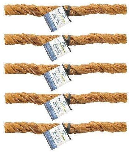 Image of Barkworthies Premium Dog Treats, Large Tripe Twist (5 Pack)