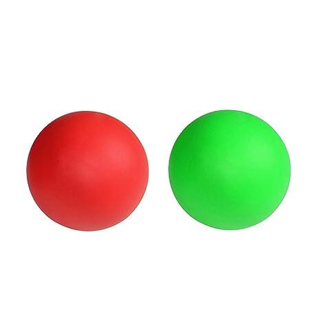 WINOMO 2 piezas bola de masaje pelota Lacrosse para terapia de ...
