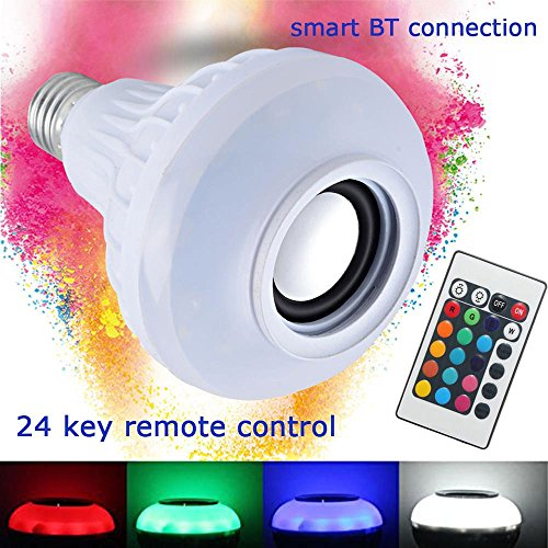 Wireless 12W Power E27 LED rgb Bluetooth Speaker Bulb Light Lamp - 7