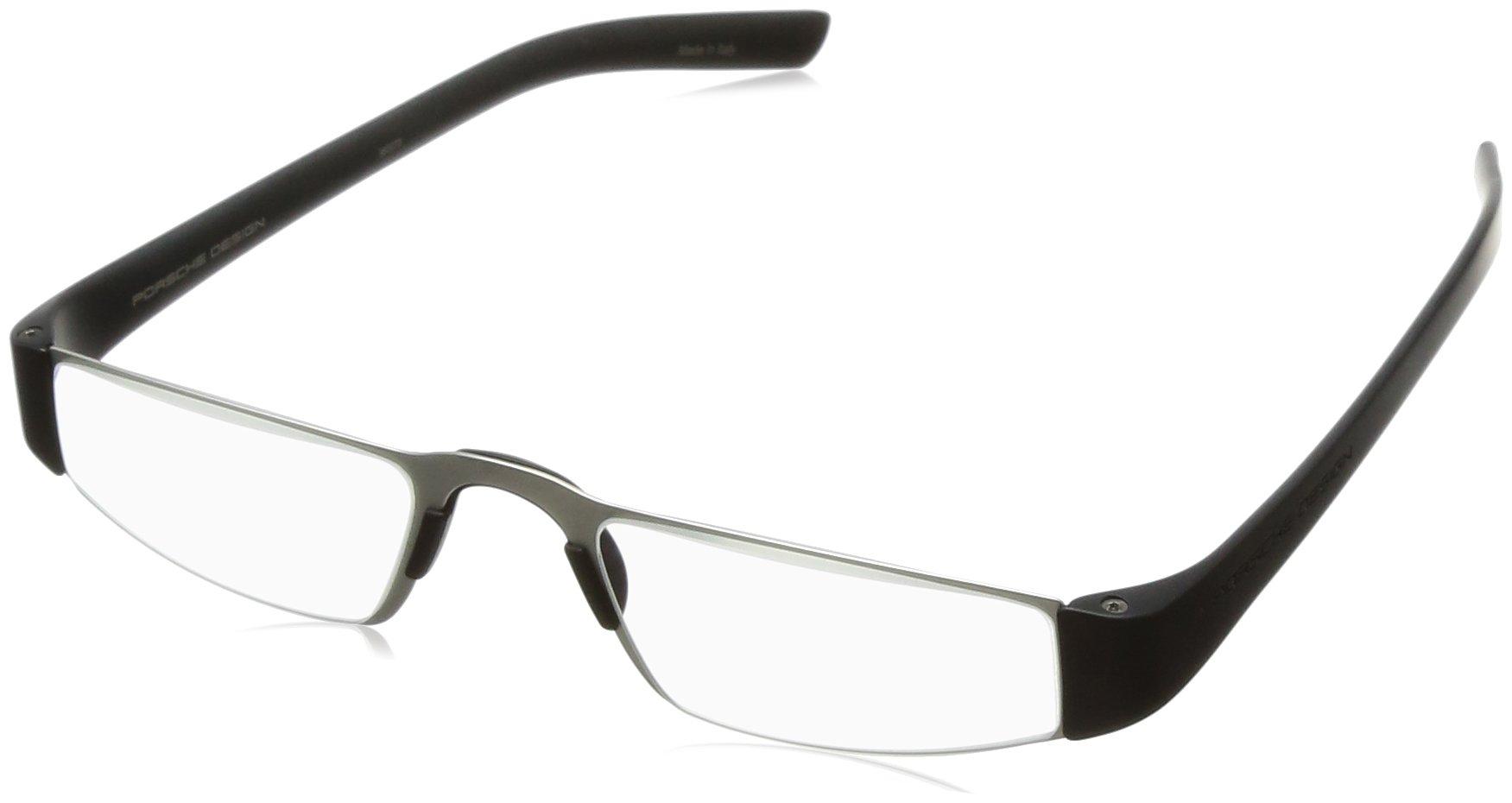 Porsche Designs P8801 +2.50 Reading Glasses A Black Frame Clear Lenses Size 48-20-150