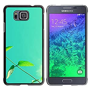 Paccase / SLIM PC / Aliminium Casa Carcasa Funda Case Cover - Plant Nature Forrest Flower 13 - Samsung GALAXY ALPHA G850