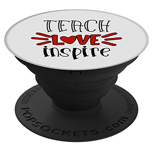 CocomoSoul-Mobile Teacher Love Inspire -Teacher Appreciation Gift - Last Day Of School Gift PopSockets Stand for Smartphones and Tablets