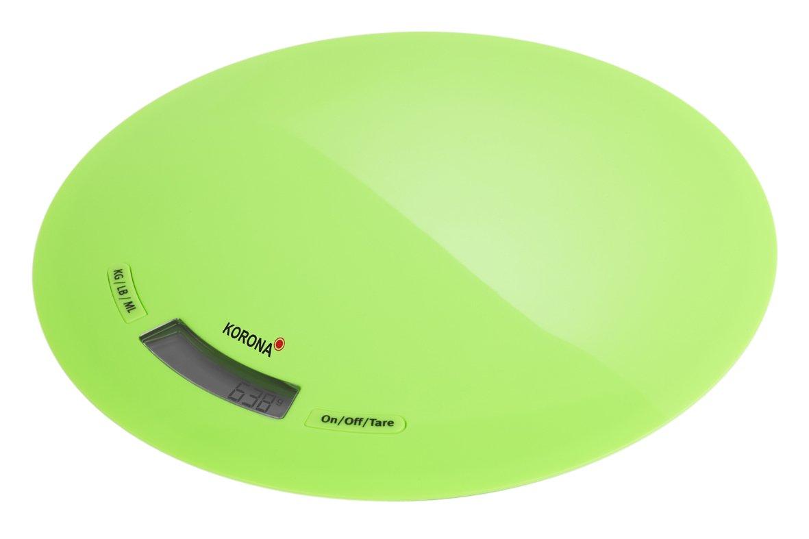 Korona Ronda - Báscula de cocina (LCD, Verde, 218 x 218 x 15 mm): Amazon.es