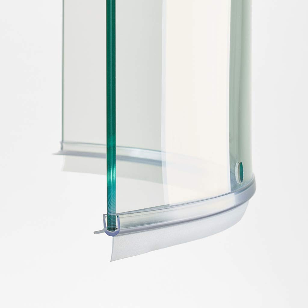100cm EC-911-C Guarnizione Curva Flessibile Box Doccia con Gocciolatoio per vetri di spessore da 6 mm Ricambi & Box Doccia