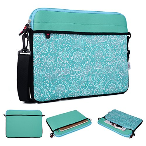 Kroo Tablet/Laptop Hülle Sleeve Case mit Schultergurt für Lenovo New X1Carbon 4. Generation rot rot blaugrün hkm82