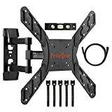 "Perlegear Full Motion Articulating TV Wall Mount Bracket for most 23-55 Inch LED, LCD, OLED and Plasma Flat Screen TVs VESA patterns up to 400 x 400mm - 16"" Extension - Bonus HDMI Cable & Bubble Level"