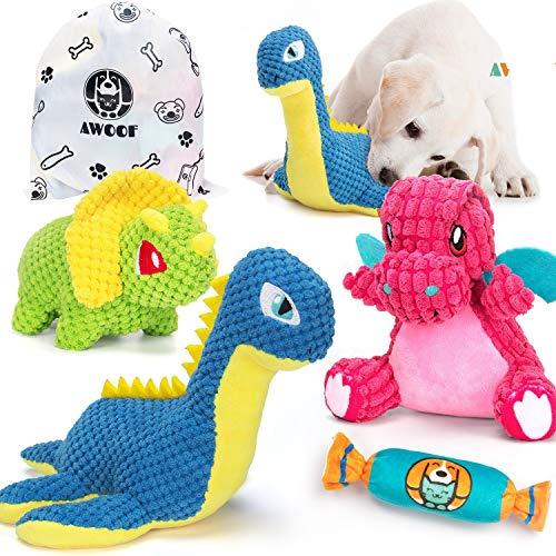 AWOOF Hundespielzeug Kleine Hunde, Interaktives Hundespielzeug Spielzeug für Hunde, stabiles Quietschende…