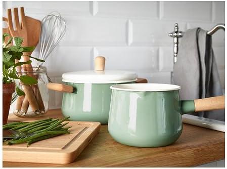 IKEA KASTRULL Cazo con tapa, verde 1,5 l: Amazon.es: Hogar