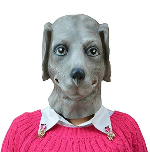 QTMY Latex Rubber Animal dog Mask for Halloween Party (Dog Masks For Sale)