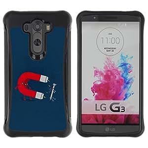 "Hypernova Defender Series TPU protection Cas Case Coque pour LG G3 / D855 / D850 / D851 [Imán y uñas divertido""]"