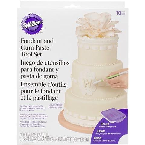 Wilton 1907-1350 10-Piece Fondant and Gum Paste