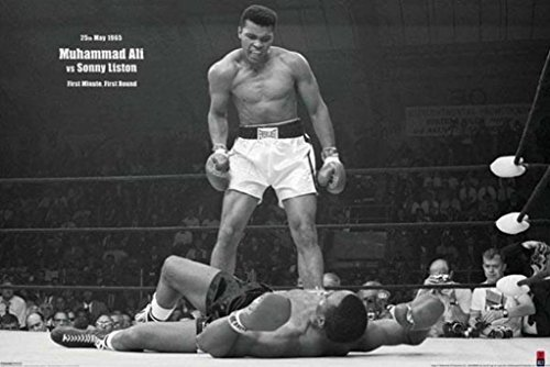 Muhammad Ali vs. Sonny Liston-Landscape, Sports Poster Print, 24 by 36-Inch