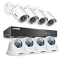ANNKE 8Channel 1080P HD-TVI Security Camera System and (8) 2.0 Megapixel 1920TVL CCTV Cameras with Weather Proof, Easy Remote Access, Motion Detection-NO HDD