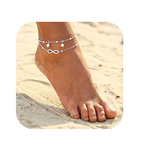 Defiro Minimalist Anklet Gold Tone Infinite love Beach Foot Chain Women Jewelry ()