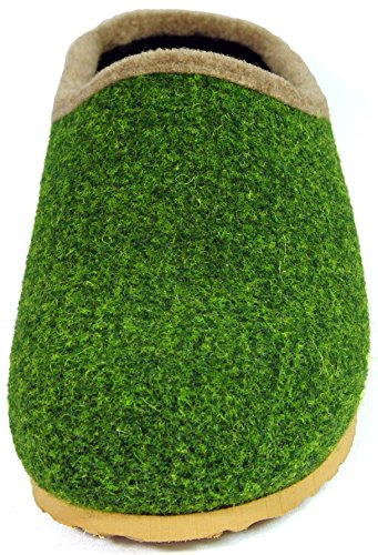 unisexe Chaussons adulte plantaire en sabots Olive feutre gHr7HIq