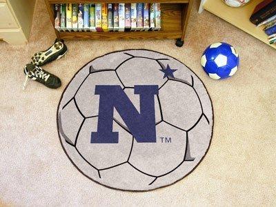 Fanmats US Naval Academy Soccer Ball Matt F0003540 by Fan Mats