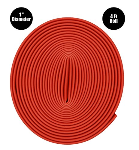 Dual Wall Adhesive Marine Heat Shrink - 4 Ft - 1 Inch Diameter - Red by Simple Electric Solutions