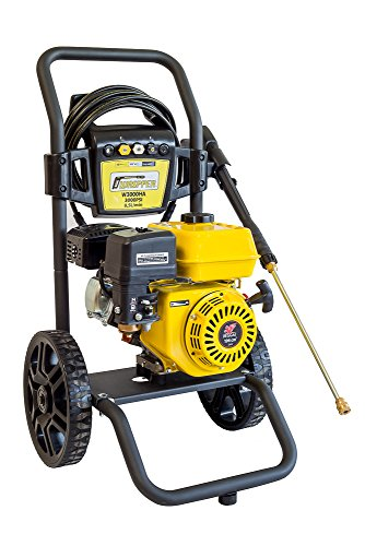 Cheap Premium Waspper W3000HA 3000PSI 2.8 GPM Gas Powered Cold Water High Pressure Power Washer Gasoline Easy Start Axial Aluminum Pump Small Light Durable Frame and Wheels