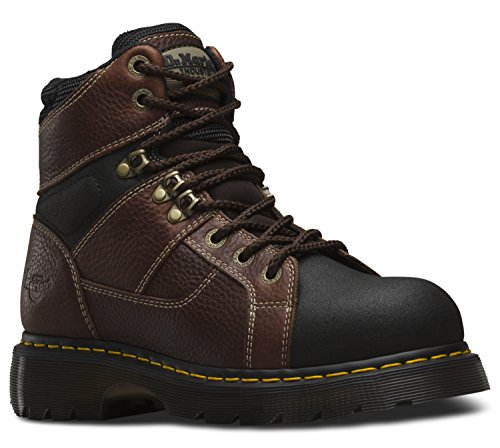 Brown Tumbled Leather Air (Dr. Martens Men's Ironbridge Tec-Tuff ST 8 Tie Boots, Brown Leather, 13 M UK, 14 M US)