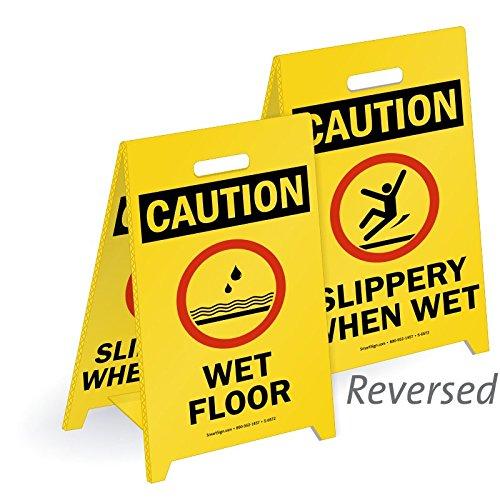 SmartSign Reversible Plastic Corrugated Floor Sign, Legend