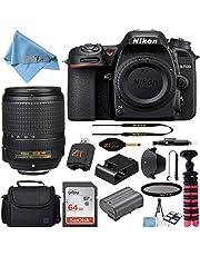 Nikon D7500 20.9MP DSLR Digital Camera with AF-S DX NIKKOR 18-140mm f/3.5-5.6G ED VR Lens + SanDisk 64GB Memory Card + Camera Bag + Accessory Bundle (Black)