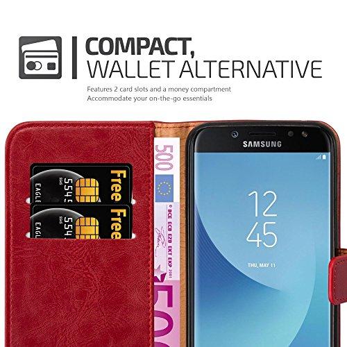 Cadorabo - Funda Estilo Book Lujo para >                                      Samsung Galaxy J7 (7) - Modelo 2017                                      < con Tarjetero y Función de Soporte