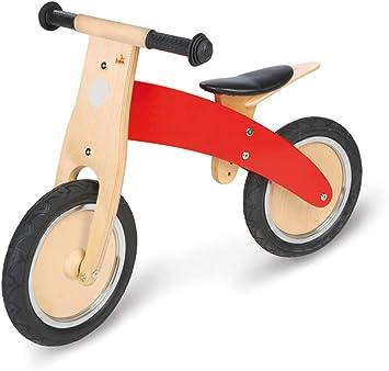 Pinolino 239449 - Bicicleta de madera para niños, color rojo ...