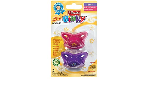 Amazon.com : Playtex Baby Binky Most Like Mother Silicone Pacifiers ...