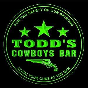4 x ccqg1368-g de Todd Western vaqueros de dejar las armas en el Bar de cerveza 3D prácticos de costa de la bebida