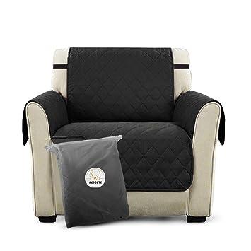 PETCUTE Lujo Cubre para Silla Fundas de Sofa Protector de sofá o Sillón, Dos o Tres Plazas Negro: Amazon.es: Hogar