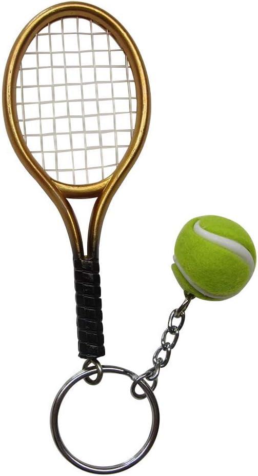 Gran Llavero, Joyas de Bolsa Raqueta Dorado + Pelota de Tenis ...