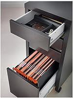 official photos c21f2 d1616 Micke, Drawer Unit/drop File Storage, Black-brown