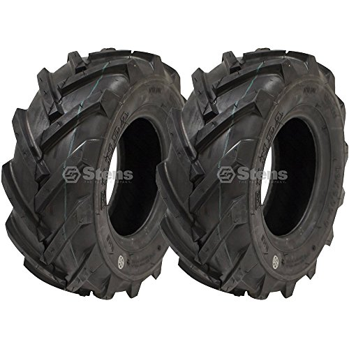 Tubeless 2 Tread Tire Ply (Stens 2 Kenda Tire 13x5.00-6 AG Tread 2 Ply Tubeless Rototiller Snow Blower Thrower 219E0001)