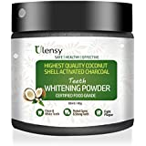 Ulensy Upgraded Charcoal Teeth Whitening Powder, Higher Efficiency than Charcoal Toothpaste, Teeth Whitening Strips, Teeth Whitening Ges and Kits, Best Charcoal Teeth Whitening Powder for 2018
