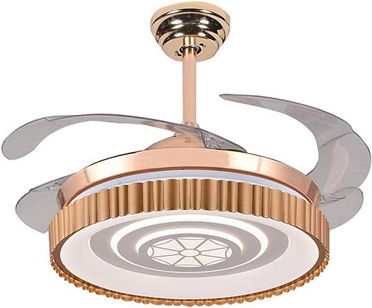 NIUZIMU Ventilateurs de Plafond Invisibles avec Lampe