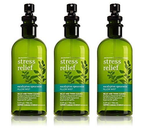 omatherapy Pillow Mist Eucalyptus Spearmint 3 Pack (Body Works Aromatherapy Lavender Pillow)