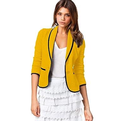 STRIR Blázer Abrigo Mujer Blazer Color Sólido Americana ...