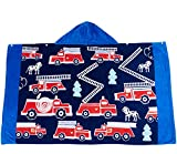 Wowelife Hooded Towel Kids Beach Towel for Bath, Pool and Beach, 100% Cotton 30 x 50 inch Extended Length for Boys and Girls, Fits 4-12 Years Old or Anyone under 60 Inch(Fire Engine)