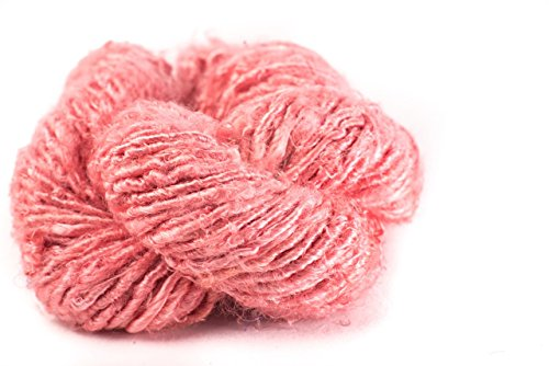 Darn Good Yarn, Banana Fiber Yarn, 30 Yards, Coral, 100 Grams, 1 Skein