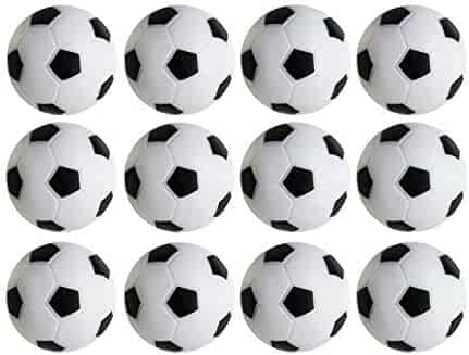 Table Soccer Foosballs Replacements Mini Black and White Soccer Balls - Set of 12