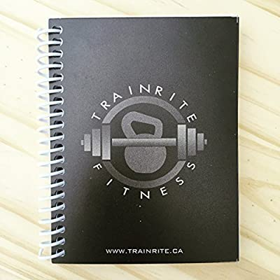 trainrite compact fitness journal black an exercise log book